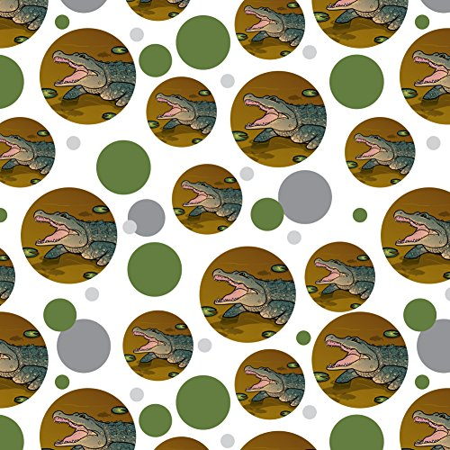 GRAPHICS & MORE Alligator in Swamp with Lily Pads Premium Gift Wrap Wrapping Paper Roll
