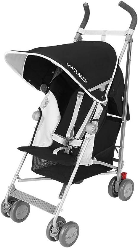 Maclaren Globetrotter - Silla de paseo, color negro/blanco: Amazon ...