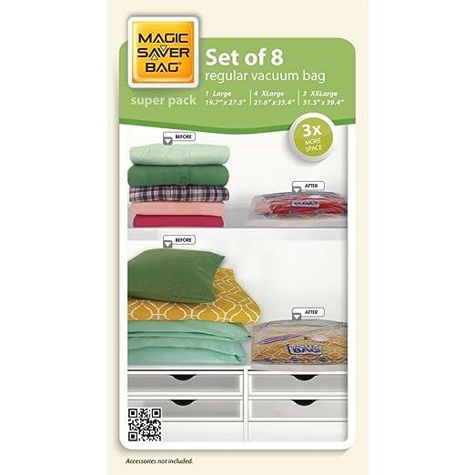 Magic Saver Bolsas de almacenamiento al vacío, hermético ...