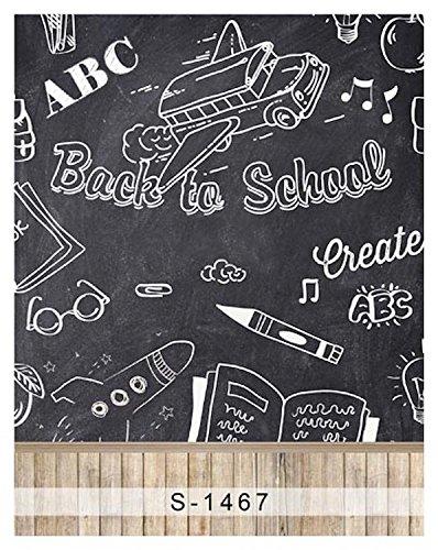 amazon com 5x7ft vinyl digital back to school chalkboard