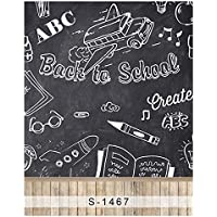 5x7ft Vinyl Digital Back to School Chalkboard Blackboard Photography Studio Backdrop Background