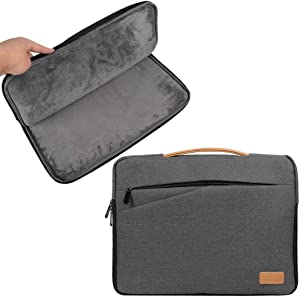 Slim Water Resistant 15.6 Inch Laptop Sleeve for HP Elitebook, Envy x360, Essential, Omen, Pavilion, Probook, Spectre x360, Zbook