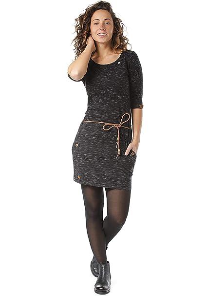 Ragwear Tanya Organic Damen Kleid grey XS-L Neu