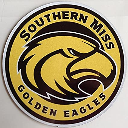 Amazon.com: USM Southern Miss dorado Eagles 6-inch Círculo ...