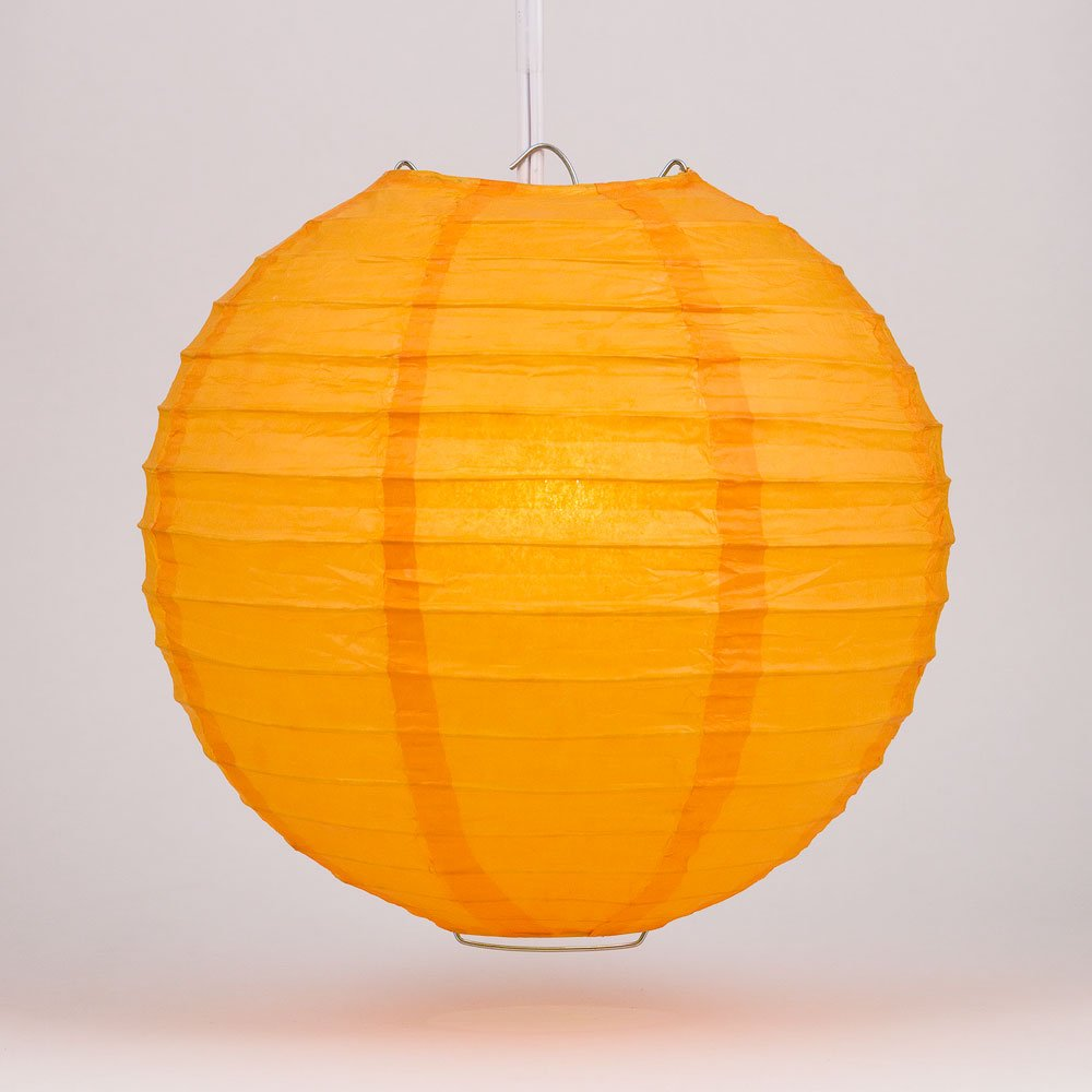 球体ペーパーランタン うね織り模様 ぶらさげるのに(電球は別売り) 16 Inch オレンジ 16EVP-OR 1 B00T5E8ED2 16 Inch|オレンジ オレンジ 16 Inch
