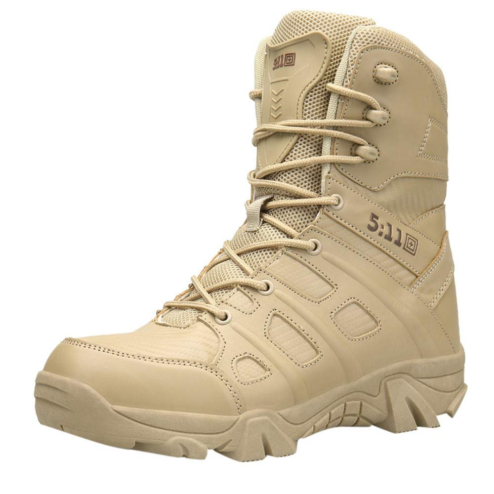 Chaussure Homme Ville Durable DéContractéE Mode Confortable RandonnéE Loisirs Travail Bottes Militaires...