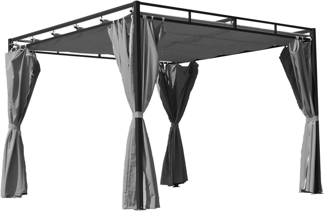 Tejado plano pergola Firenze 3 x 3 Meter gris acero/poliéster, Gris, 3 x 3 Meter: Amazon.es: Juguetes y juegos
