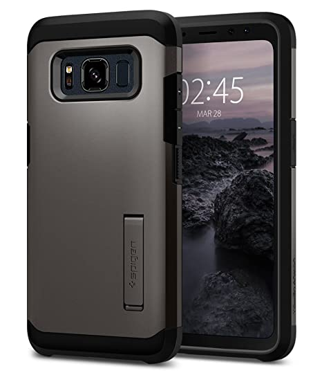 detailed look 833e0 e8327 Spigen Tough Armor Designed for Samsung Galaxy S8 Active Case (2017) -  Gunmetal