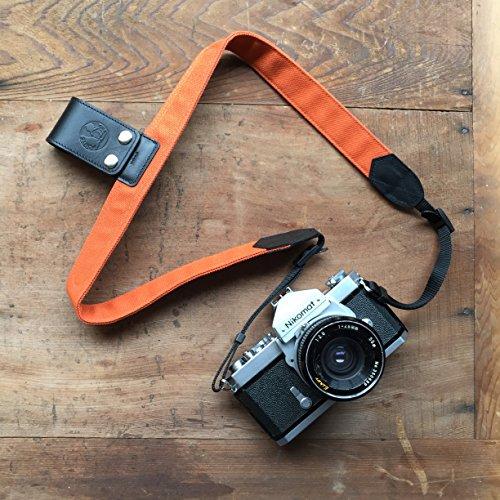 PONTE Camera Lift-Strap, Design for Travelers, Canvas, Burnt orange -