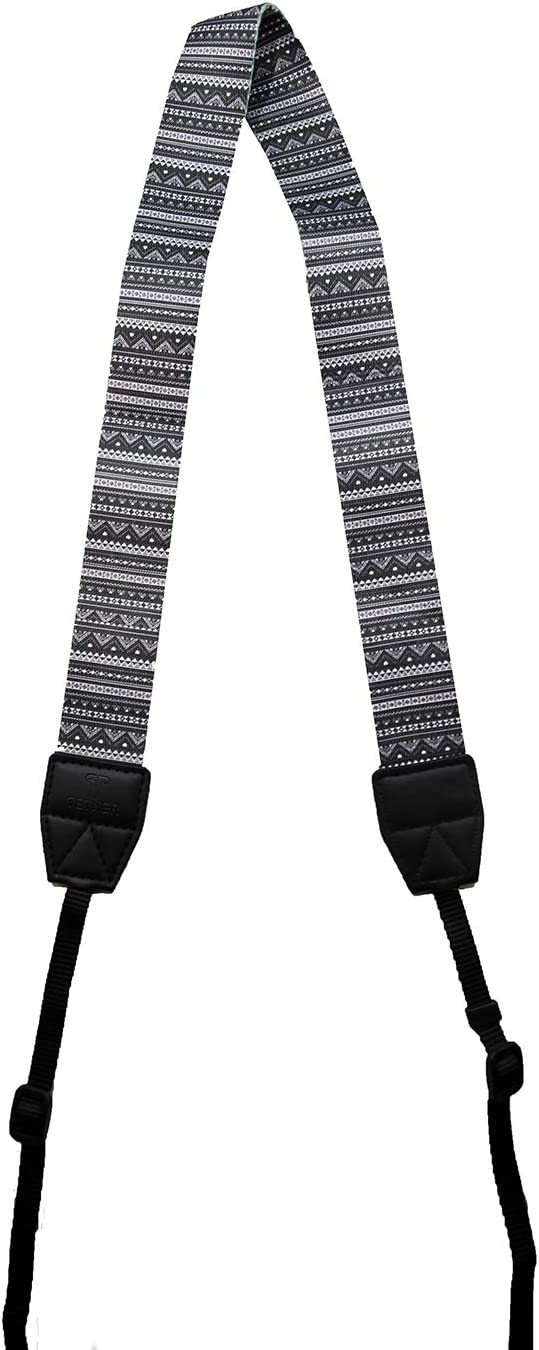 TETHER Aztec Design Camera Strap for DSLR or SLR Camera Canon Camera Strap DSLR Camera Strap Camera Accessories Nikon Camera Strap The Aztec