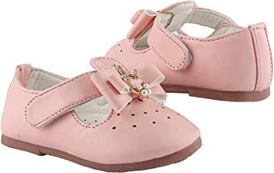 Casual Rose Faux Leather Shoes For Girls