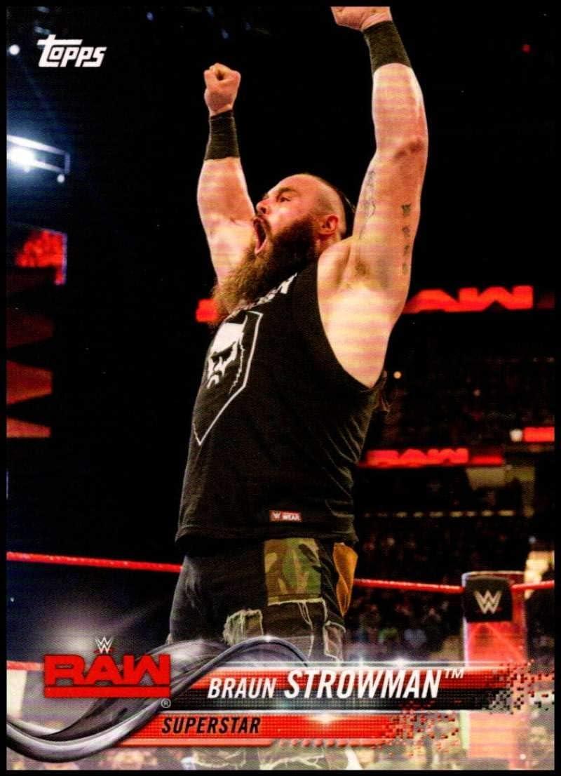 2017 Topps WWE entonces ahora siempre cartas #111 marrón Strowman