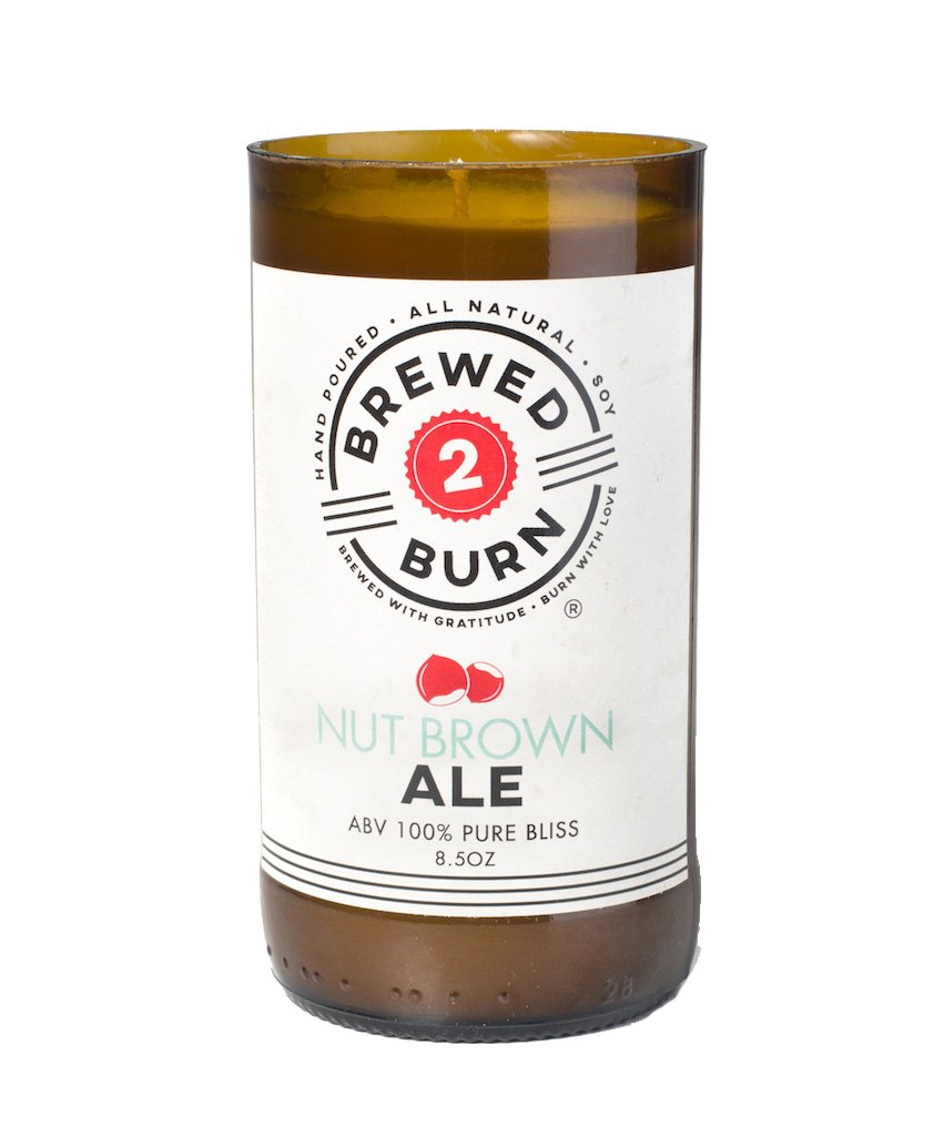 40a061820304a Brewed2Burn - Nut Brown Ale Craft Beer Scented Candle 8.5oz All-Natural Soy  Wax - Hand-Poured Authentic Beer Bottle ABV 100% Pure Bliss