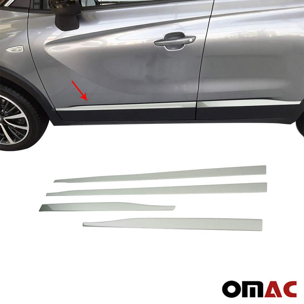 Listelli laterali in acciaio INOX cromato 4 pezzi