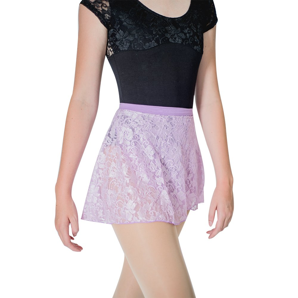 HDW DANCE Lace Dance Wrap Skirts for Women Cotton Waistband (Light Grape) by HDW DANCE