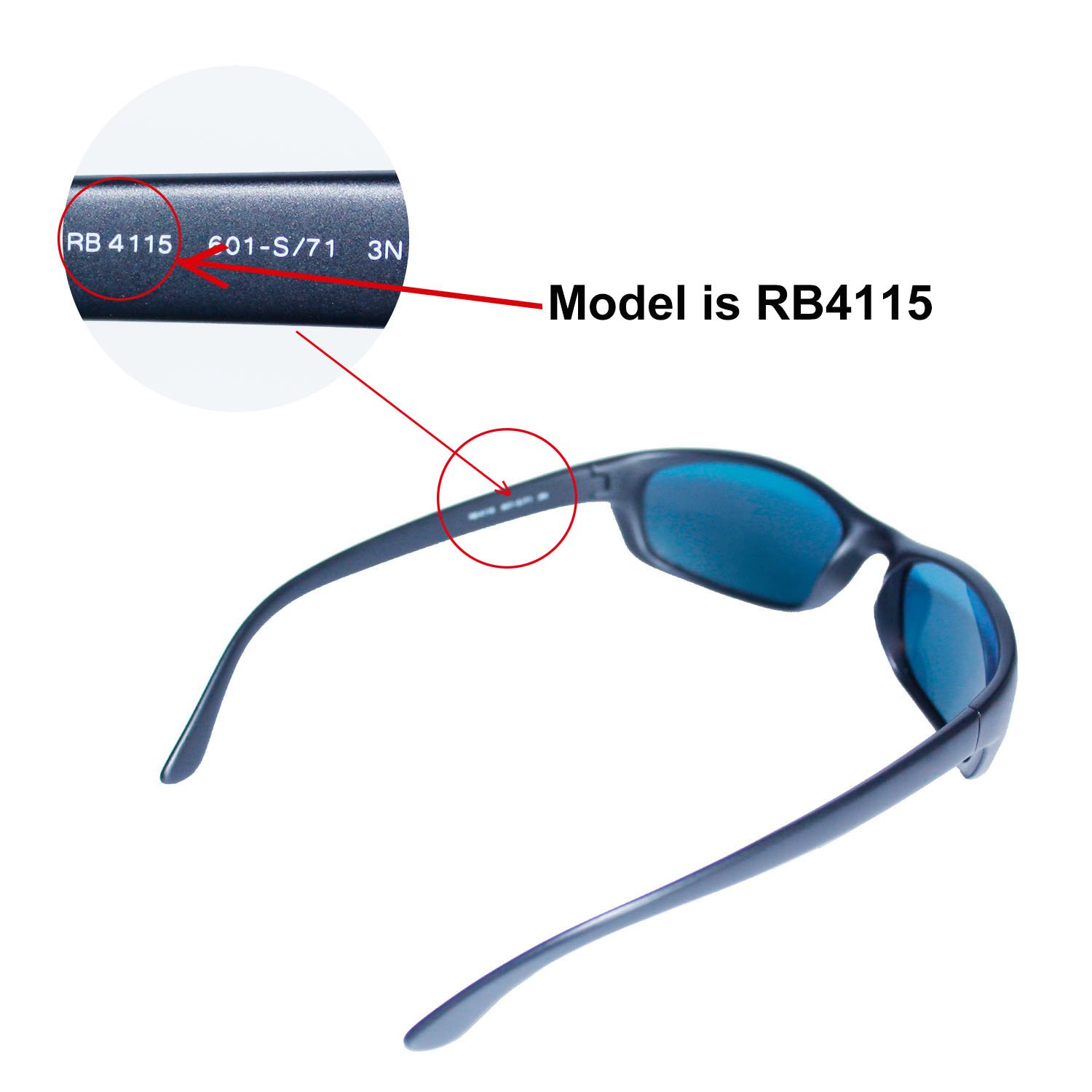 6dd06e48926f6 Amazon.com   Walleva Replacement Lenses for Ray-Ban RB4115 Sunglasses - Multiple  Options Available (Black - Polarized)   Sports   Outdoors
