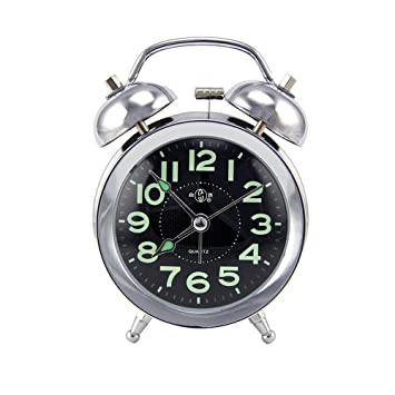 dgq 3u0027u0027 farm vintage metal twin bell alarm clock with light for home decoration