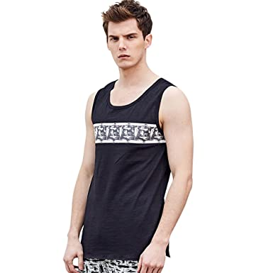 b53263cb84a4dc Amazon.com  Mens Tank Top Gyms Fitness Muscle Mesh Hoodie Sleeveless ...