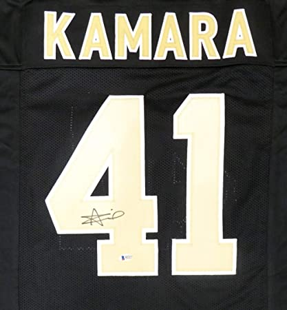 outlet store e5c8b 96165 New Orleans Saints Alvin Kamara Signed Auto Black Jersey ...