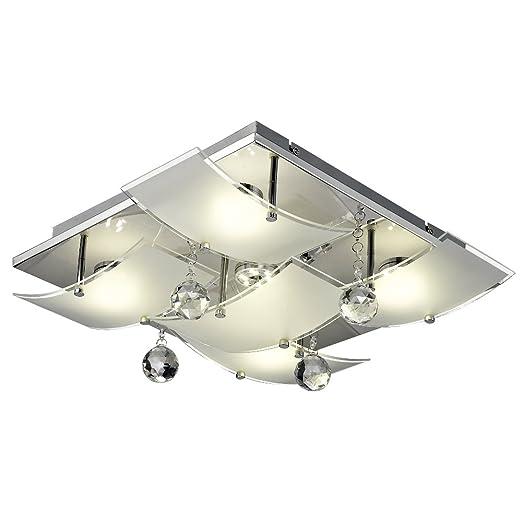 Ceiling light energy saving bulb lamp dining room corridor lighting glass EEK A