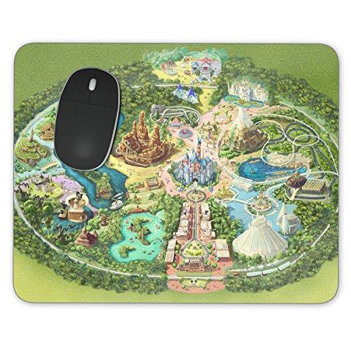 Disneyland Colorful Map Mousepad - Rectangle Mousepad - Neoprene for Optical & Laser - Adventure Disneyland Map