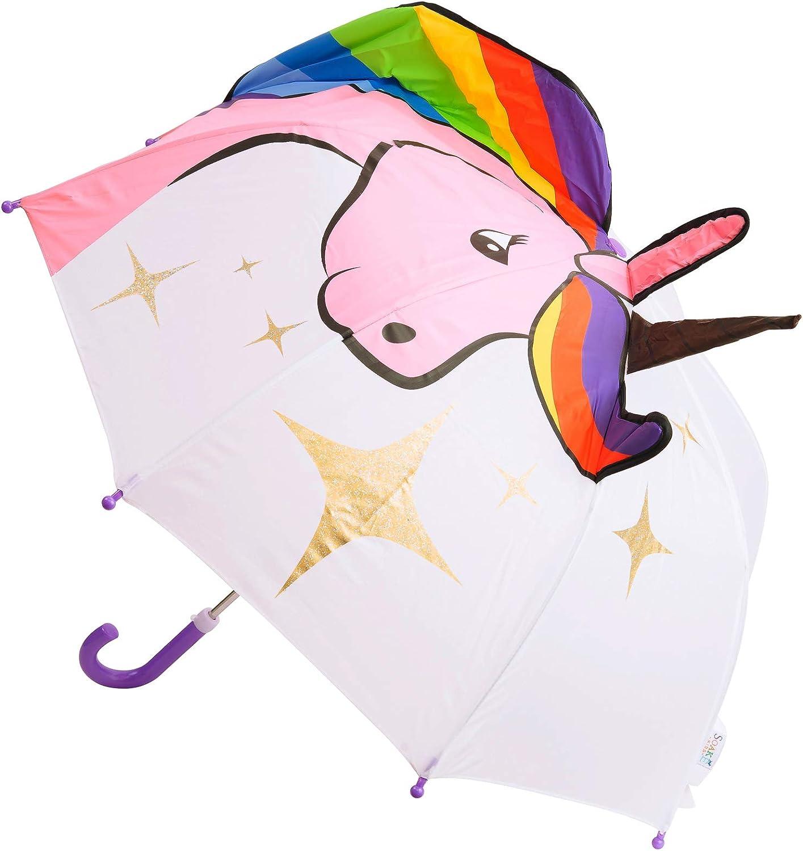 Soake Kids Parapluie 3D pour Enfant Motif Licorne