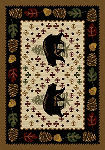 Bear Patchwork Natural Rug - 3 x 4 by Black Forest Decor (Image #1)