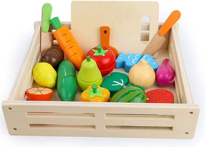 Top 10 Kids Food Cutting Set Wood Cucumber