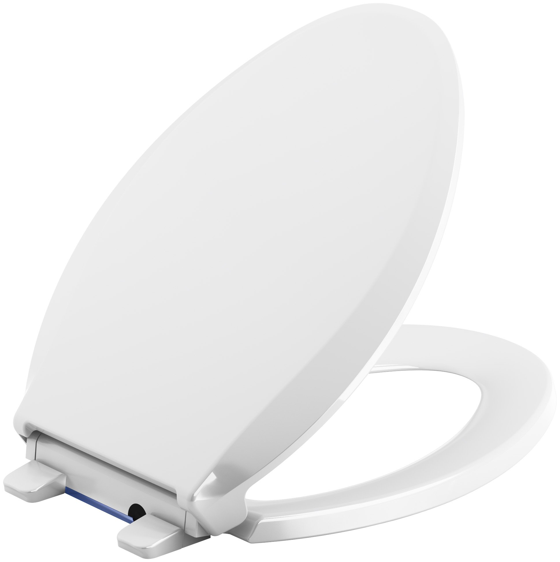 KOHLER 75796-0 Cachet Nightlight Quiet-Close with Grip-Tight Elongated-Front Toilet Seat, White