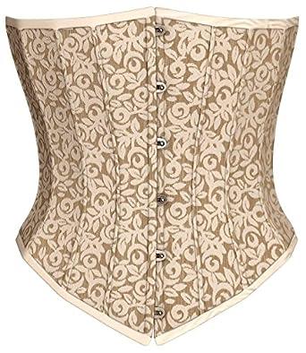 Victorian Corsets- Custom, Costume & Patterns Steel Boning Underbust Fashion Corset Waist Cincher  AT vintagedancer.com