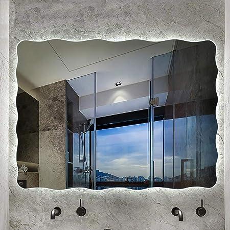 ATO ROMX Espejo LED Deluxe - Dimensiones del Espejo 80x60 cm Tres Tamaños Espejo de Baño con