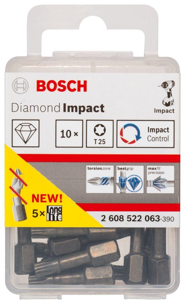 Bosch 2608522046 Embout de vissage impact diamond impact T25 25mm X1