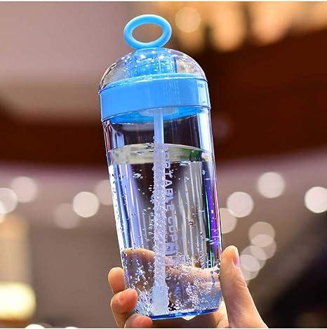 LMSHM Botella Deportiva Botella plástica de Agua Botella de ...