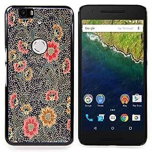 GIFT CHOICE / Teléfono Estuche protector Duro Cáscara Funda Cubierta Caso / Hard Case for Huawei Google Nexus 6P // Painting Oriental Art Red Black //