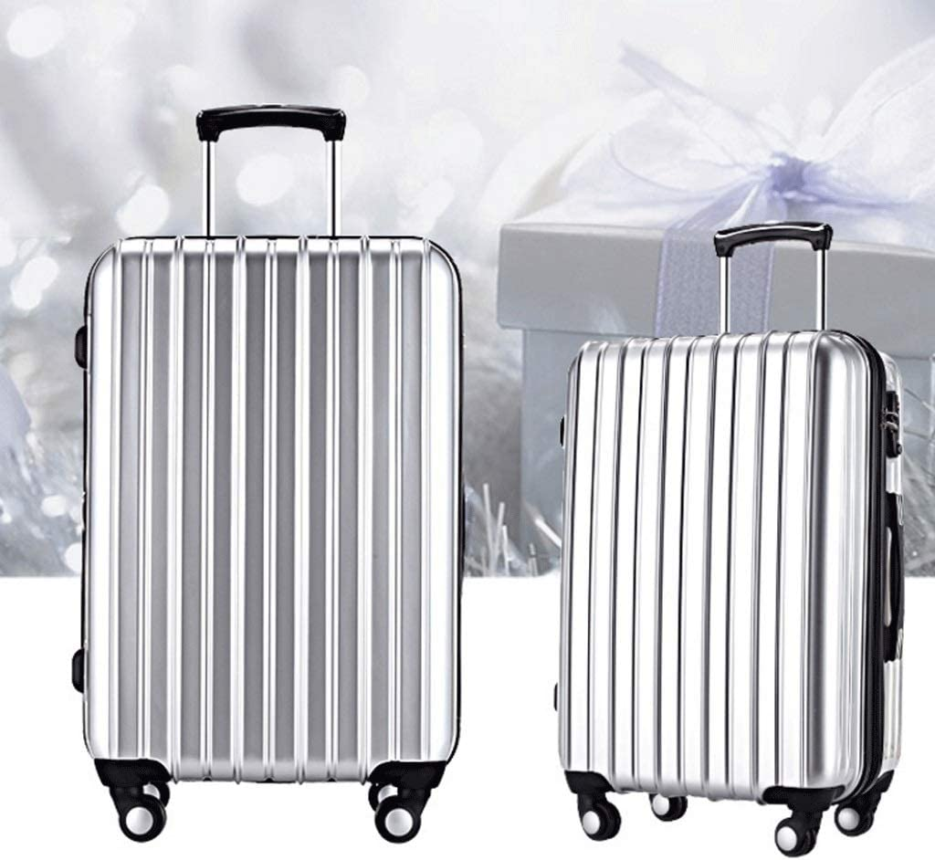 Telescopic Adjustable Suitcase HUANGDA Trolley Case 4 Rounds Multi-Function Business Password Suitcase Color : Blue, Size : 20 inches 360 Degrees