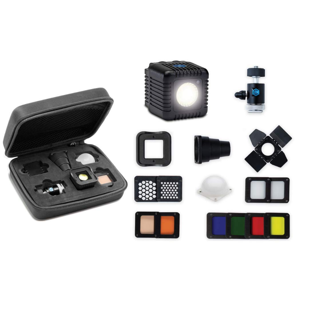 Lume Cube - Portable Lighting Kit Plus, 16-Piece LED Lighting Kit with Diffusion and Gels for On & Off Camera Video and Photography