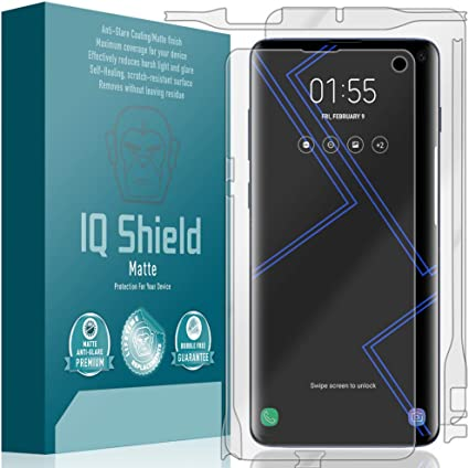 + Anti-Glare Screen Protector and Anti-Bubble Film Full Coverage 6.5 inch IQ Shield Matte Full Body Skin Compatible with Apple iPhone 11 Pro Max