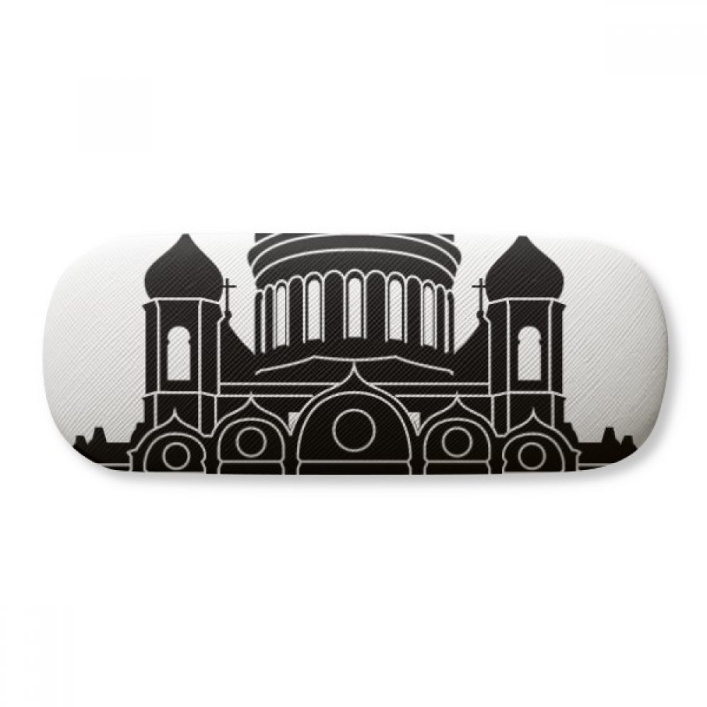 Moscow Cathedral Christ Russia Glasses Case Eyeglasses Clam Shell Holder Storage Box