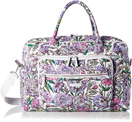 Vera Bradley Iconic Weekender Travel Bag, Signature Cotton, Lavender Meadow ()