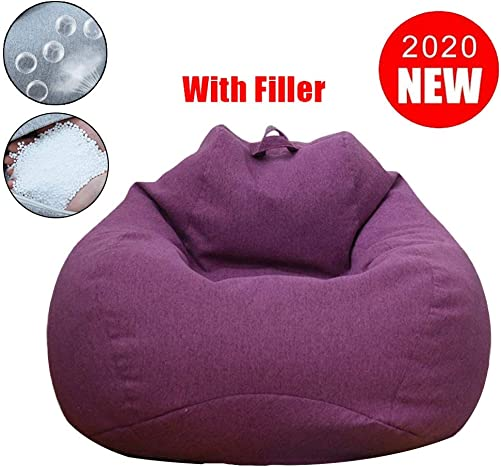 Bean Bag Chair Bean Bag Chair with Soft Micro Fiber Cover Stuffed EPS Grain Filled Comfortable Sofa Furniture for Home Dorm Room 31×35 Inch
