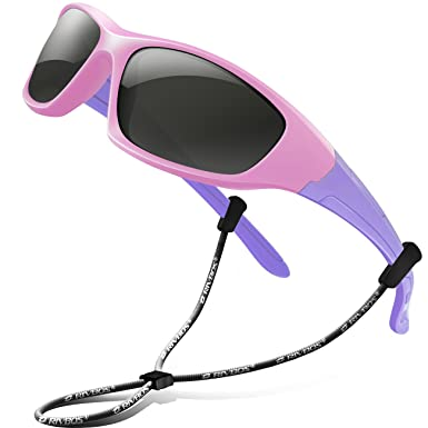 3a1dcc56492 RIVBOS RBK003 Rubber Flexible Kids Polarized Sunglasses Age 3-10 (Pink)   Amazon.in  Clothing   Accessories