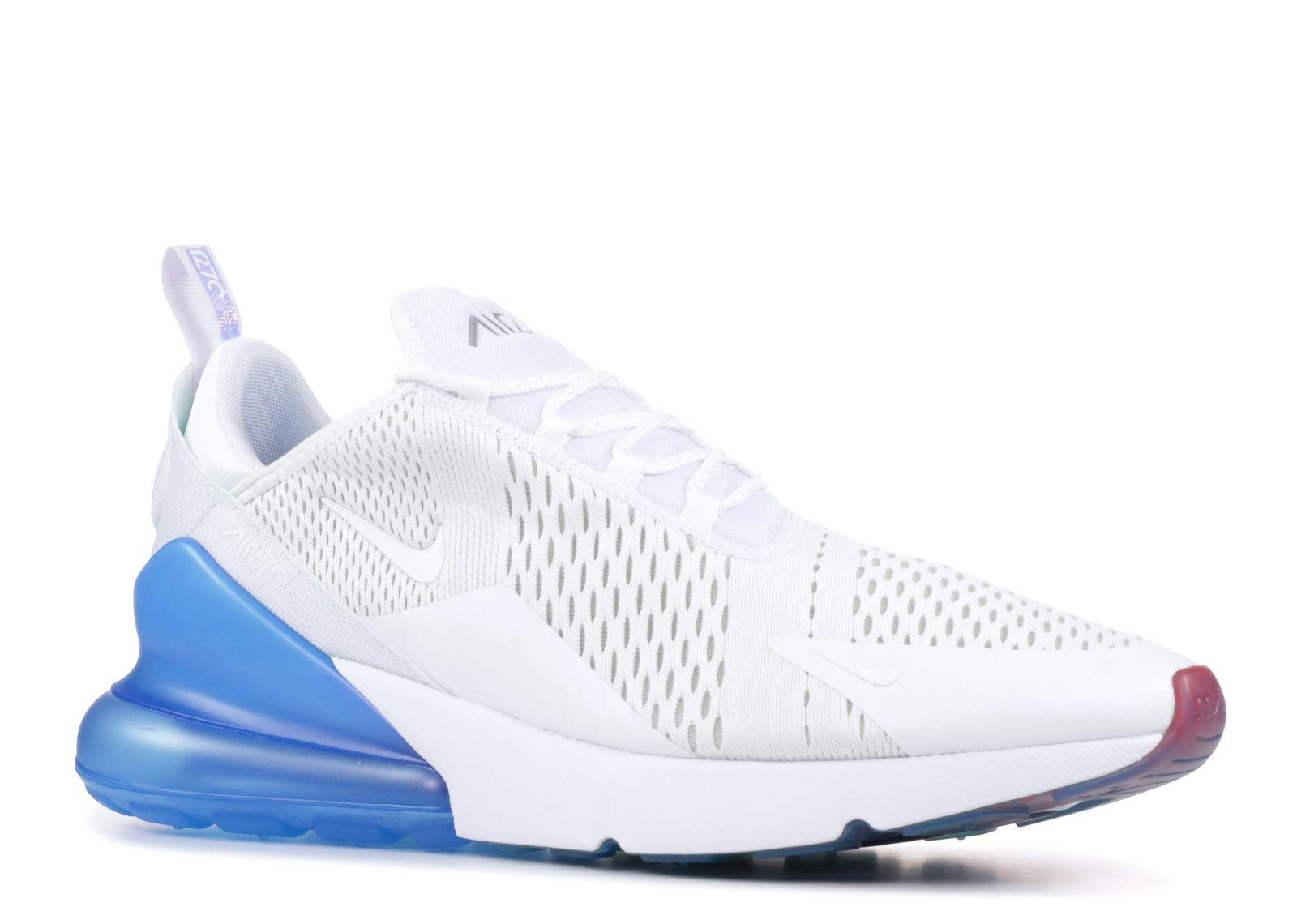 buy popular 52c78 f5fd7 Galleon - Nike Mens Air Max 270 Running Shoes White Photo Blue Pure Platinum  AQ7982-100 Size 10.5