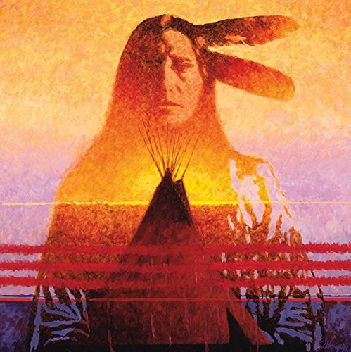 Ceaco Native American Sunset - Two Feathers Puzzle (550 Piece)