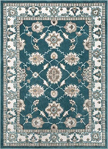 Well Woven Cenna Blue Traditional Persian Floral Pattern Area Rug 8×10 7 10 x 9 10