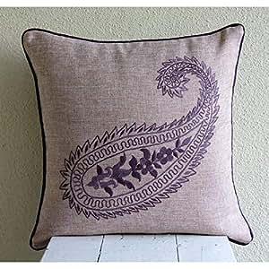 Amazon.com: Diseñador púrpura Accent almohadas, almohadas ...