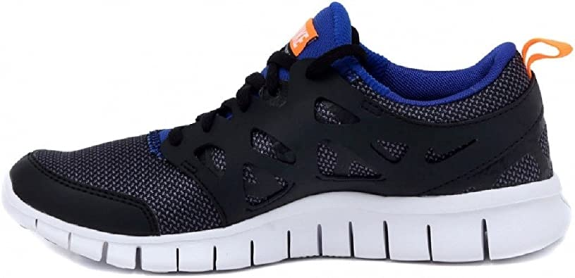 NIKE Free Run 2 (GS) Laufschuhe Black-White-Total Orange-Game Royal - 36: Amazon.es: Zapatos y complementos