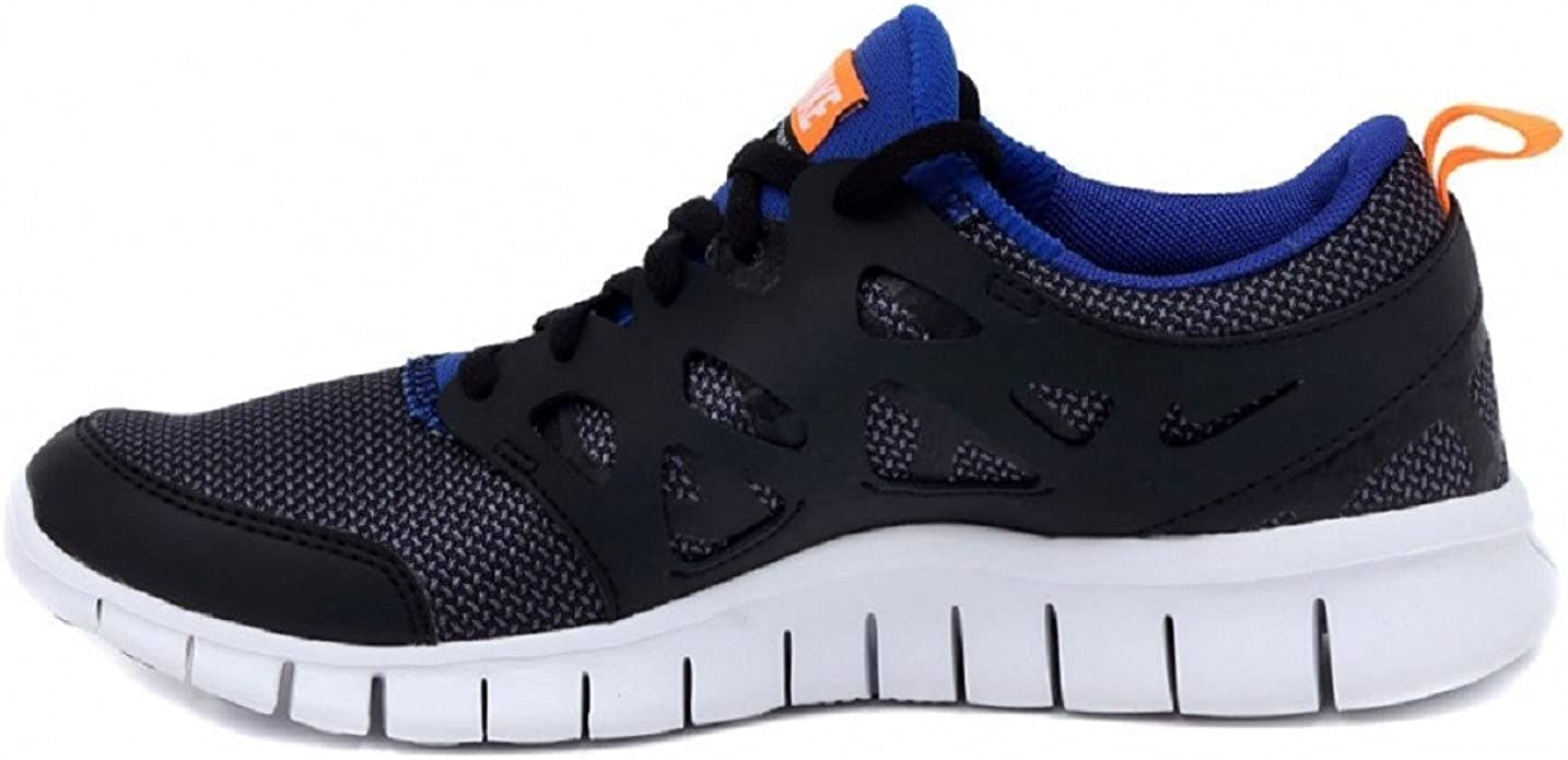 NIKE Free Run 2 (GS) Laufschuhe Black-White-Total Orange-Game Royal - 36: Amazon.es: Zapatos y complementos