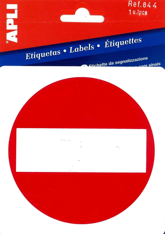APLI 844-Etiqueta señalización prohibido el paso 1 u.