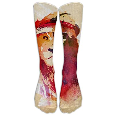 High Boots Crew Lion Head Compression Socks Comfortable Long Dress For Men Women