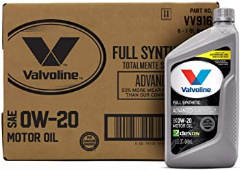 6-Pack Valvoline 0W-20 Full Synthetic High Mileage Motor Oil 1qt